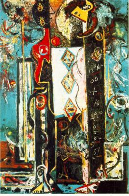 Jackson Pollock. A man and a woman