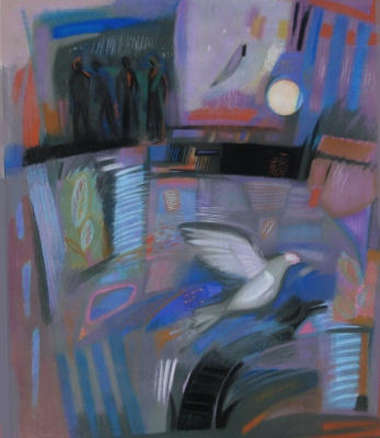 "Rumyana Vnukova. Psalms series Psalm 54 ""Who would give me wings like a dove? ..."""