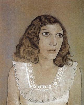 Lucien Freud. Girl in white dress