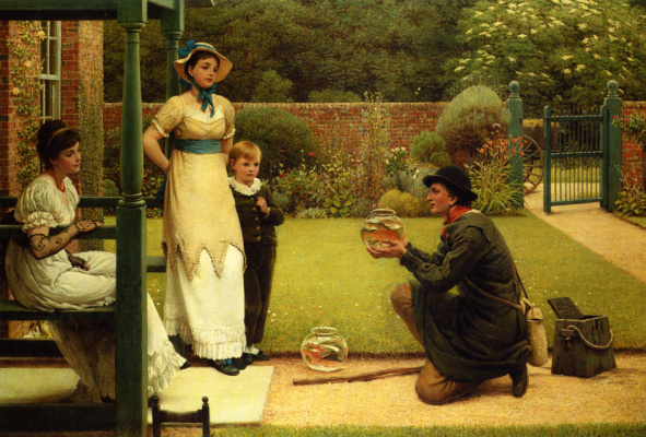 George Dunlop Leslie. The seller goldfish