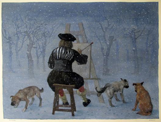 Konstantin Kalinovich. Vermeer in the snow II