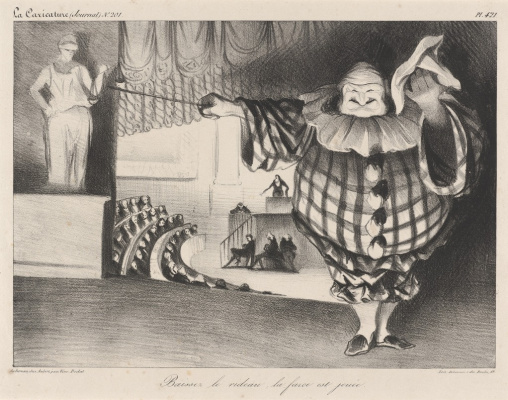 Honore Daumier. Lower the curtain, the farce is over