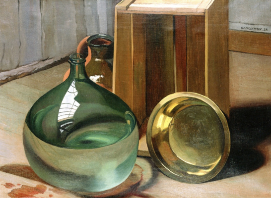 Felix Vallotton. A bottle and bowl