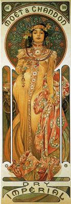"""Альфонс Муха. Плакат для """"Моэт и Шардон: Сухой Империал"""""""