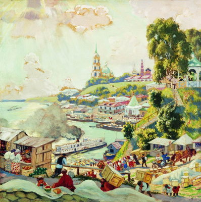Boris Mikhailovich Kustodiev. On The Volga