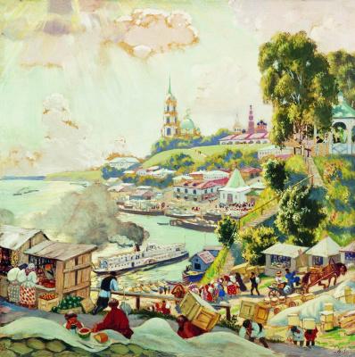 Boris Mikhailovich Kustodiev. On The Volga