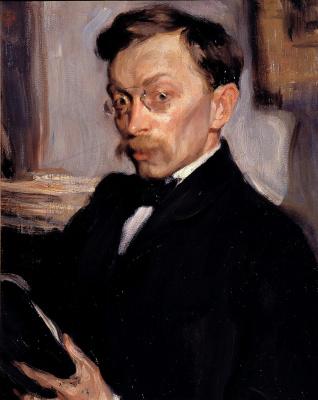Осип Эммануилович (Иосиф) Браз. Портрет К. К. Первухина. Около 1902