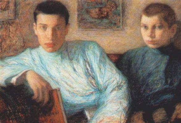 Leonid Osipovich Pasternak. Boris and Alexander