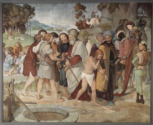 Johann Friedrich Overbeck. Murals from the House Bartholdi: Brothers sell Joseph