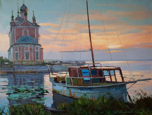 Sergey Alexandrovich Ulyanovskiy. Evening on the river Trubezh
