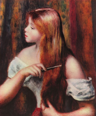 Pierre-Auguste Renoir. Hair girl