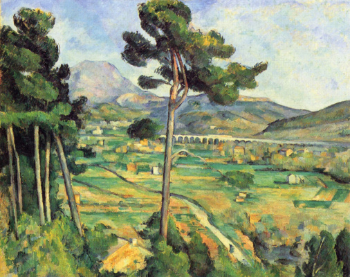 Paul Cezanne. View of the mount of St. Victoria from the Bellevue (view on the mount Sainte-Victoire from Bellevue)