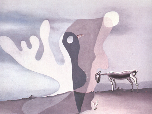 Salvador Dali. Sheep. Ghostly cow