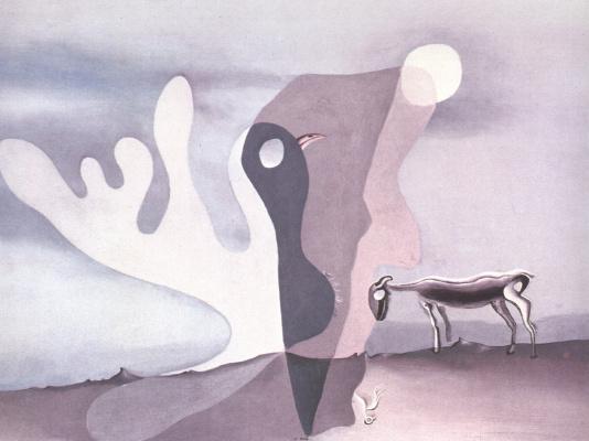 Salvador Dali. Sheep. Ghostly cow