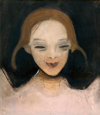 Helena Sophia Scherfbek. Smiling girl