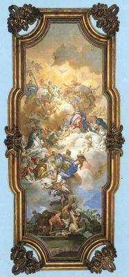Франческо Солимена. Троица, Мадонна и Св. Доминик