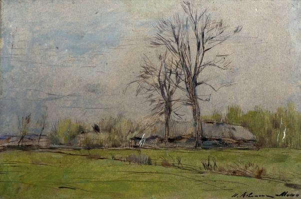 Isaac Levitan. Melikhovo. In early spring