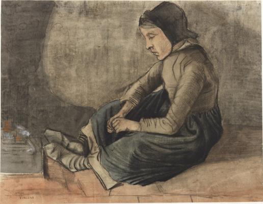 Винсент Ван Гог. Девушка у камина