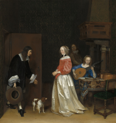 Gerard Terborch (ter Borch). The Suitor's Visit