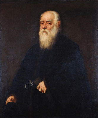 Jacopo Tintoretto. Portrait of a jeweler Girolamo Pozzo
