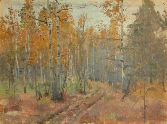 Pavel Petrovich Benkov. Autumn. Etude