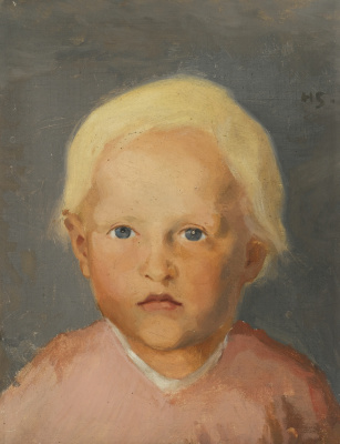 Helena Sophia Scherfbek. Boy with straw hair