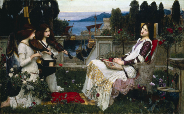 John William Waterhouse. Saint Cecilia