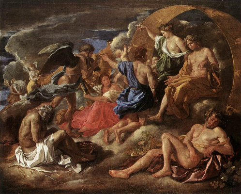 Nicola Poussin. Helios and Phaeton with Saturn and the seasons
