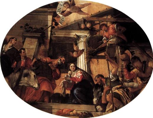 Paolo Veronese. Shepherds worship
