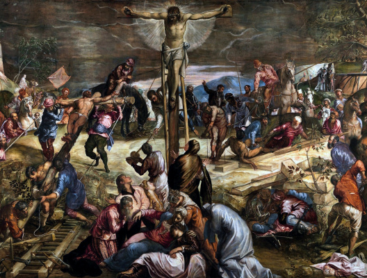 Jacopo (Robusti) Tintoretto. Crucifixion of Christ. Fragment