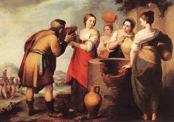 Bartolomé Esteban Murillo. Rebecca and Eliezer