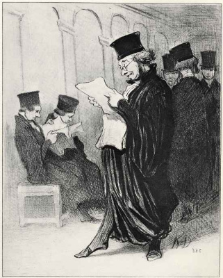 Honore Daumier. Press for my defender