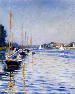 Gustave Caillebotte. Boats on the Seine