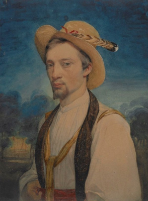 Charles Gleir. Self-portrait