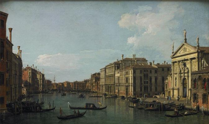 Гранд-Канал. Венеция. Вид на церковь Сан Стае и Фабрике Нуове ди Риальто