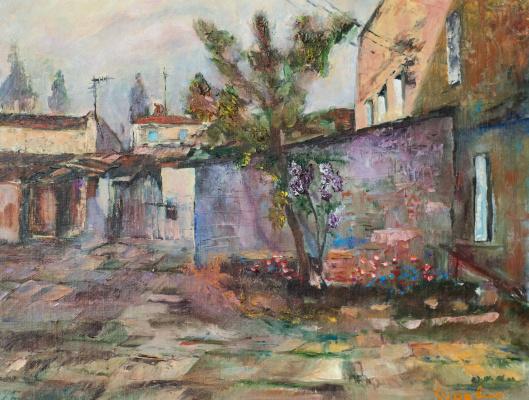 """Alexey Yurevich Kurevin. """"Odessa Courtyard"""""""