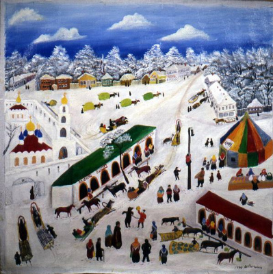 Vasily Vasilyevich Grigoryev. Fair in Kirzhach in 1929
