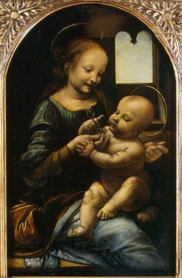 Леонардо да Винчи. Мадонна с Младенцем