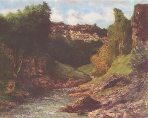 Gustave Courbet. Rocky landscape