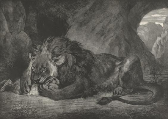 Эжен Делакруа. Лев в горах Атласа