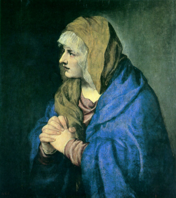 Titian Vecelli. Our lady of the solitude