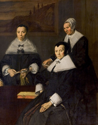 France Hals. Group portrait of Regents women's shelter for the aged in Harlem. Fragment 2