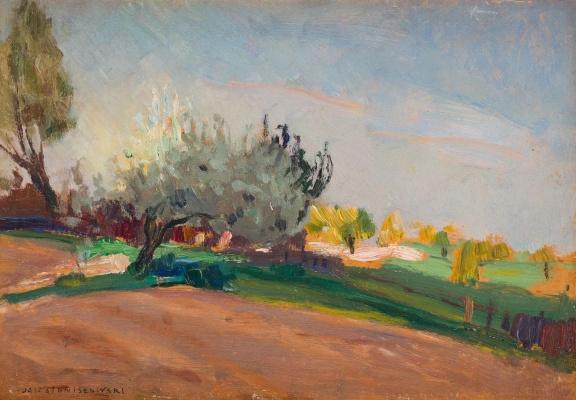 Jan Stanislavsky. Landscape with willows