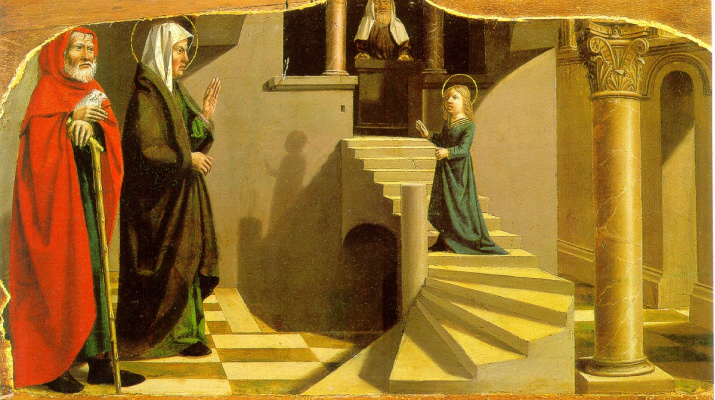 Nicola Dipr. The introduction of Mary into the temple