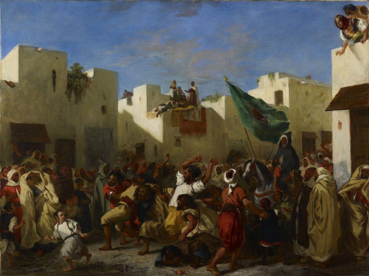 Eugene Delacroix. The fanatics in Tangier