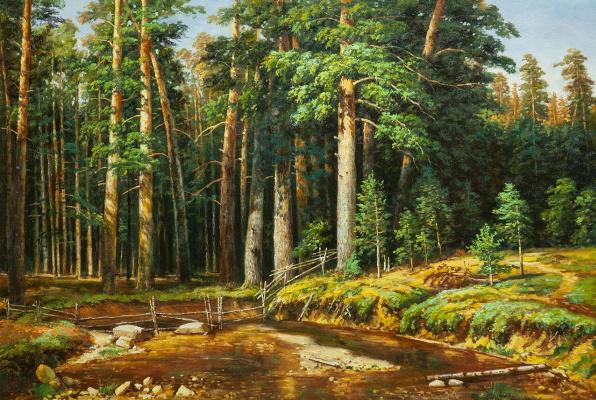 Savely Kamsky. Copy of Ivan Shishkin's painting Ship Grove