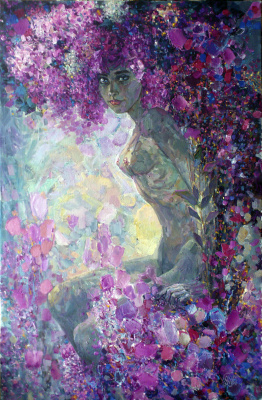 Gennady Abramov. Girl in a lilac