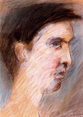 Марино Марини. Мужской профиль