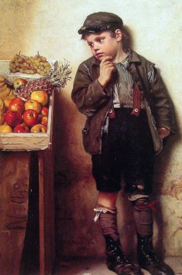 Джон Джордж Браун. Смотря на фрукты