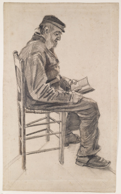 Vincent van Gogh. Reading the old man